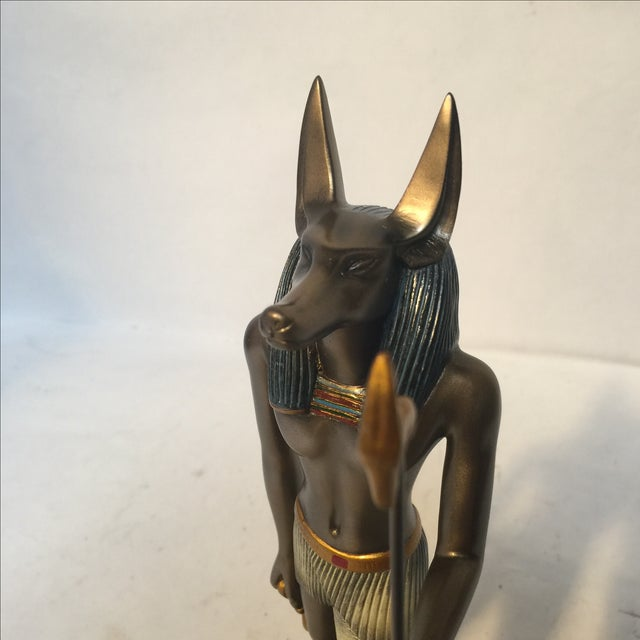 Egyptian Bronze Resin Sculpture - Image 3 of 8