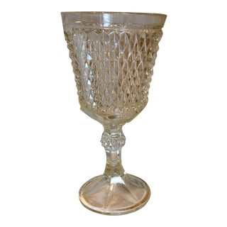 Pressed-Glass Diamond Pattern Compote