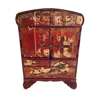 Antique Japanese Jewelry Cabinet