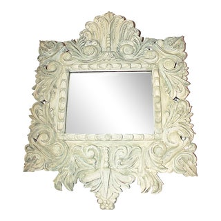 Painted Carved Mirror