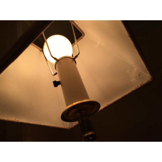 Vintage Mid-Century Swing Arm Brass Accent Lamp - Image 6 of 7