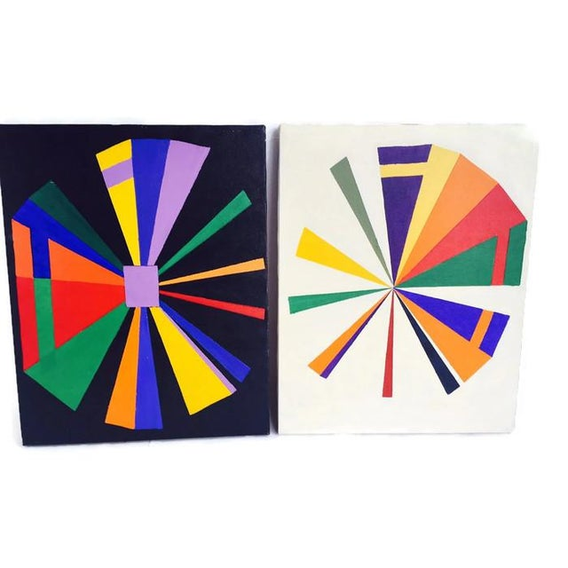 Vintage Geometric Modern Canvas Art Set - Image 6 of 6