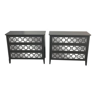 Safavieh Gray & Mirrored Chests of Drawers - A Pair