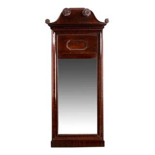 19th Century Neoclassical Mahogany Pier Mirror