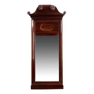 19th Century Neoclassical Mahogany Pier Mirror