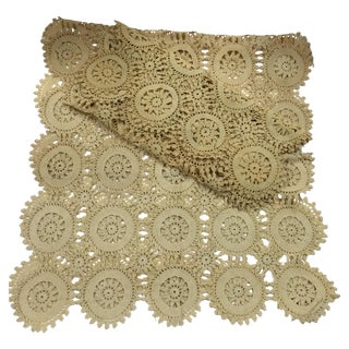 Vintage Handmade Crocheted Runners - A Pair
