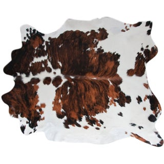 Genuine Tri-Color Cowhide - 6' X 7'