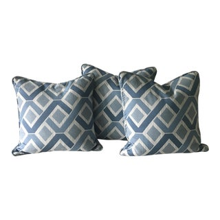 Decorator Geometric Blue Pillow Covers - Set of 3