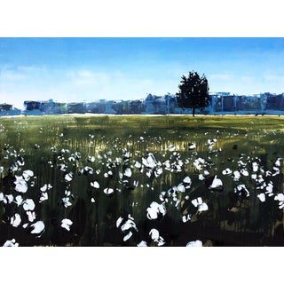 """North Carolina Cotton Field"" Painting"