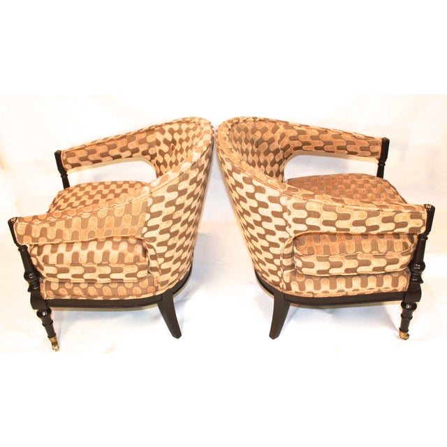 Vintage Mid-Century Barrel Club Chairs - A Pair - Image 3 of 7