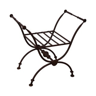 Quality Heavy Iron X-Base Curule Regency Bench