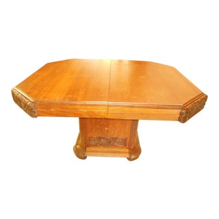 Art Deco Pedestal Dining Table