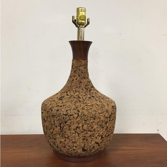 Mid-Century Cork Table Lamp - Image 2 of 8