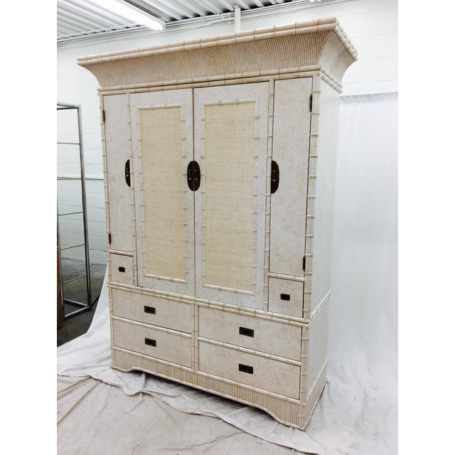 Faux Bamboo Dresser Cabinet by Ficks Reed - Image 2 of 11