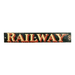 Vintage British Railway Sign