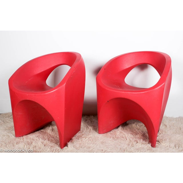 """Soft line Allkit Mid-Century """"Space Age"""" Jet Chairs - Set of 4 - Image 6 of 9"""