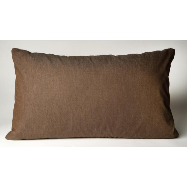Image of Brown Hand-Woven Pillow