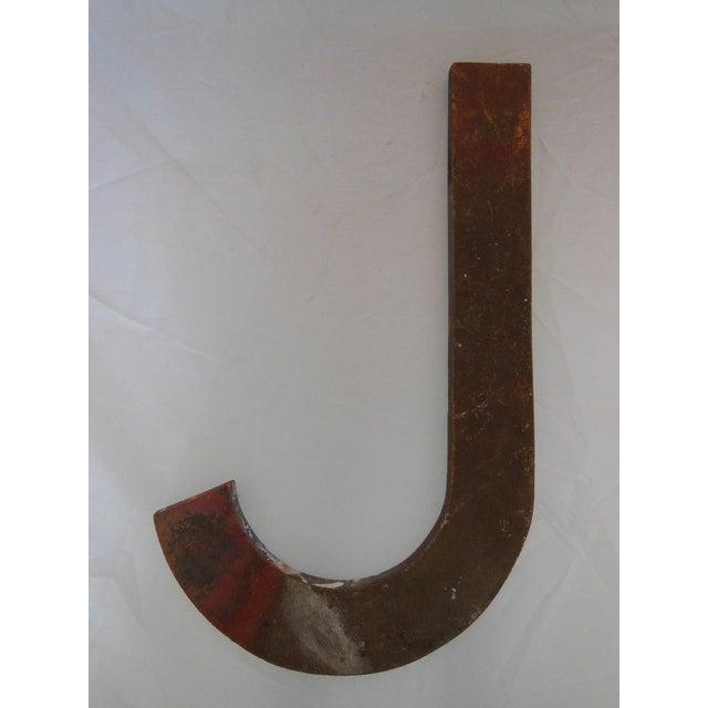 Image of Vintage Bronze Letter J