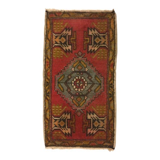 Tribal Turkish Oushak Rug - 1′9″ × 3′2″