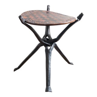 Wooden African Chess Table