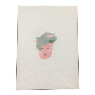 Minimalist Face Watercolor Painting
