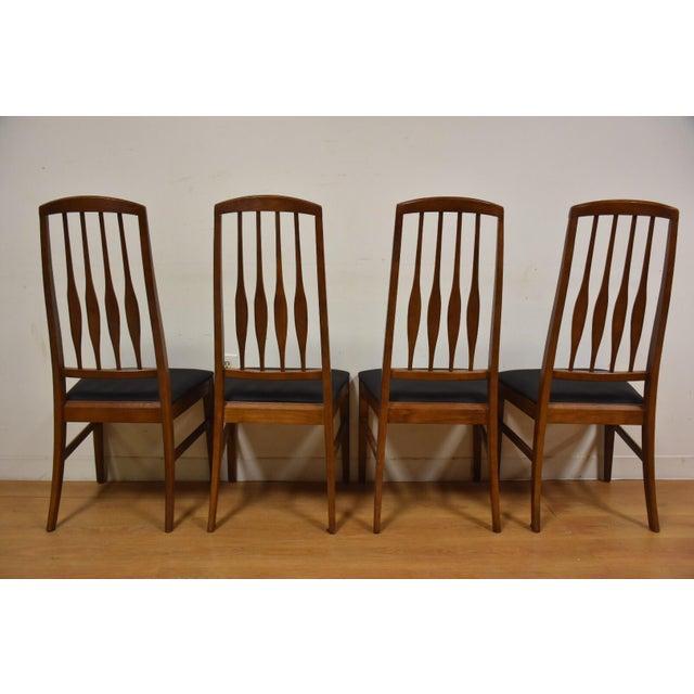keller black vinyl dining chairs set of 4 chairish. Black Bedroom Furniture Sets. Home Design Ideas