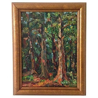 California Redwoods Oil Painting