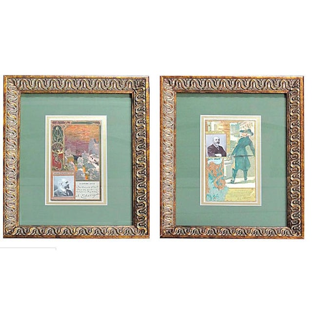 Framed Biscuit Lu Postcards - A Pair - Image 1 of 3