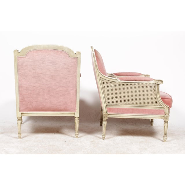 1930s Louis XVI Style Bergere Chairs - A Pair - Image 3 of 10