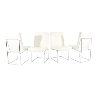 """Set of Four Milo Baughman """"1187"""" Dining Chairs"""