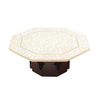 Large Harvey Probber Terrazzo Octagon Shape Top Coffee Table