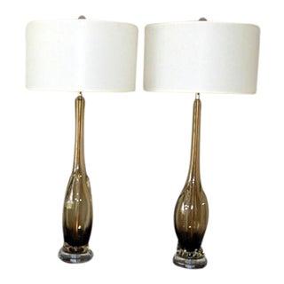 Bronze Murano Lamps by Seguso