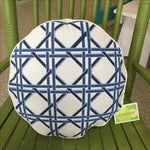 Image of Eco Accents Blue Cane Canvas Pillow