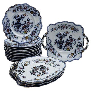 15-Piece 1840s English Ironstone Dinner Set