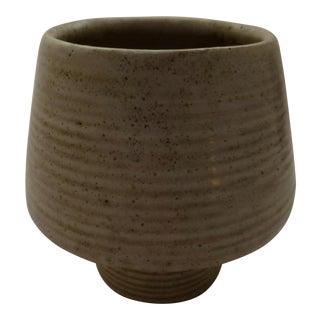 Zanesville Art Pottery Ribbed Vase