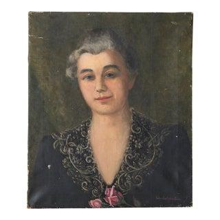 1910 Oil Portrait of a Woman