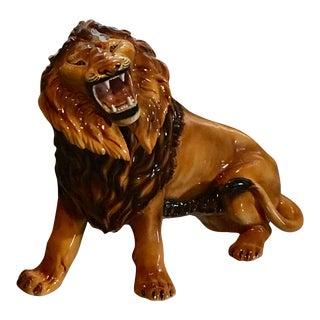 Hollywood Regency Italian Lion Statue