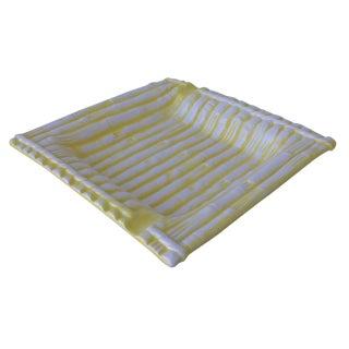 Yellow Glazed Bamboo Catchall