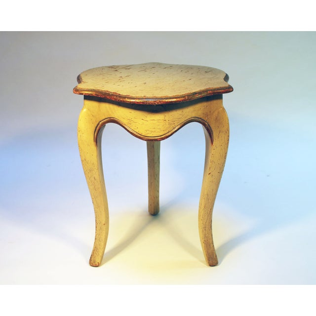 Image of Bell Shaped Primitive Wood Side Table