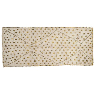 Yellow Dots Moroccan Runner - 4′10″ × 11′2″