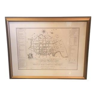 Charleston South Carolina Ichnography Map Print