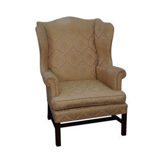 Vintage W&J Sloane Chippendale Style Wing Chair
