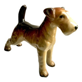 Antique Figurine of Terrier Hunting Dog