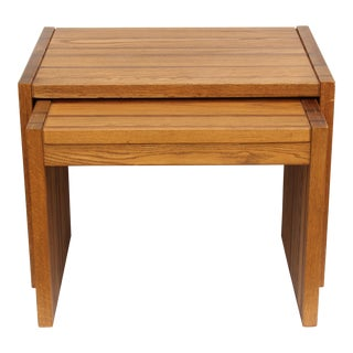 Conant Ball Striped Nesting Tables - Pair