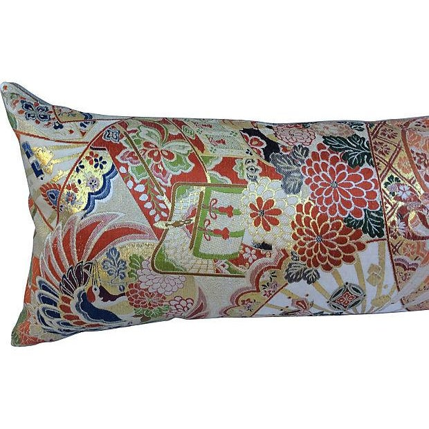 Japanese Obi Silk Metallic Pillow - Image 4 of 6