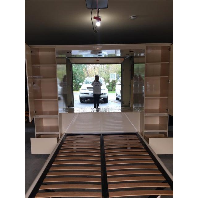 Ello Vintage Mirrored Queen Platform Bed Unit - Image 6 of 11