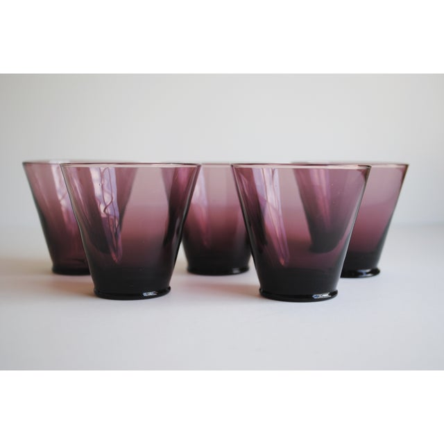Amethyst Cordial Glasses, Set of 5 - Image 3 of 5