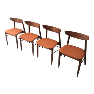 Stanley Walnut Dining Chairs - Set of 4