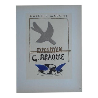 Braque Mid 20th C Modern Lithograph-Printed By Mourlot, Paris