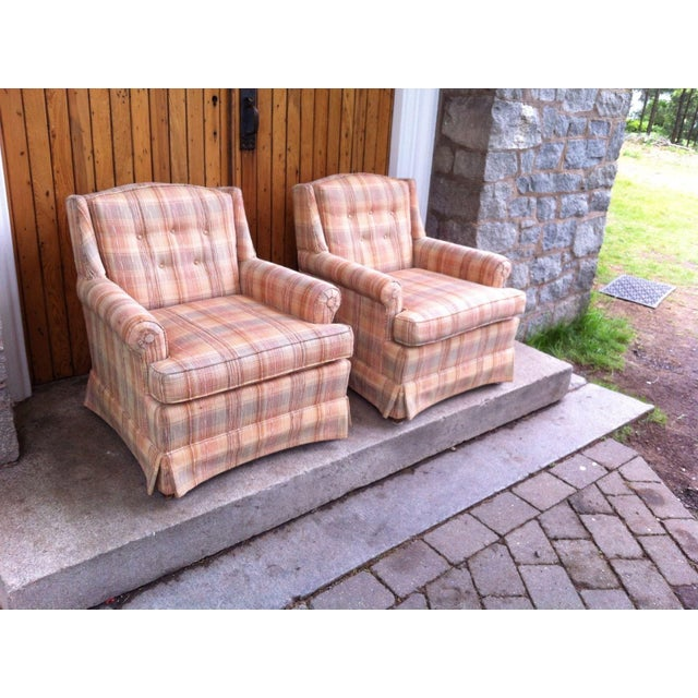 Vintage Ethan Allen Club Chairs - A Pair - Image 2 of 8